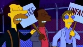 The Simpsons S04E17 Last Exit to Springfield scene