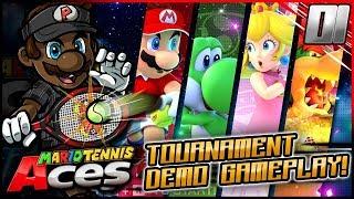 Mario Tennis Aces ONLINE TOURNAMENT GAMEPLAY w/ @PKSparkxx!
