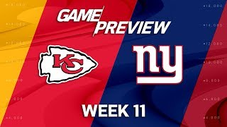 Kansas City Chiefs vs. New York Giants | NFL Week 11 Game Preview