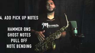 Free Sax lesson. 6 Tips to sound Pro!