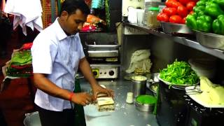 Veg. Cheese Grill Sandwich - Famous & Popular Street Food Of Mumbai, India.