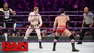 TJ Perkins, Mustafa Ali & Jack Gallagher vs Ariya Daivari, Tony Nese & Drew Gulak: Raw, Jan 23, 2017