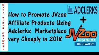 How to Promote JVzoo Affiliate offers on Adclerks Marketplace and earn 100$ per Day