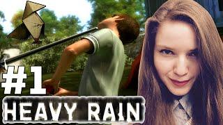 HEAVY RAIN Remaster женское прохождение, часть 1 — НАЧАЛО, бьем сына!