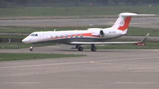 Gulfstream G550 taxiing Zurich Airport P4-PPP