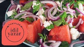 Karpuz & Peynir Salatası - Yemek Tarifleri -  İdil Yazar