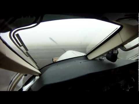 Pilatus PC 12 Fog Takeoff GoPro Pilot s view NO MUSIC