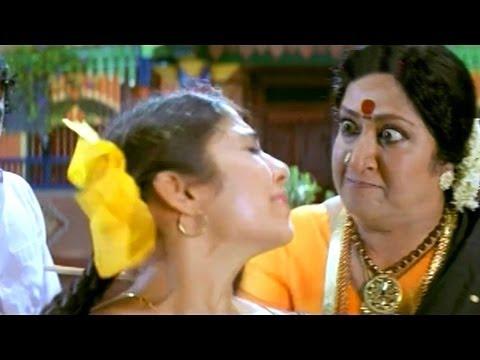 Pournami Scene - Step Mother Giving Punishment To Chandrakala - Prabhas, Charmi - HD
