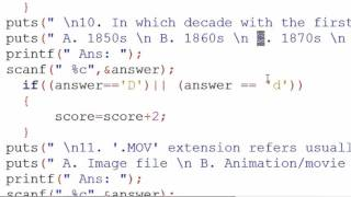 64. Multiple Choice Question Examination Solution of Task 3 C Programming (Hindi)