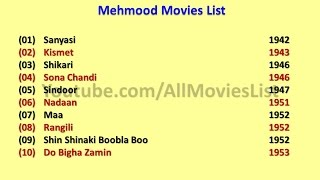 Mehmood Movies List