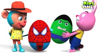 Play and Learn SHAPES with Opening SURPRISE SUPERHERO EGGs for Kids