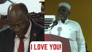 """UTACHEKA! Sheikh KIPOZEO Amwambia MAGUFULI  """"I LOVE YOU"""" Hadharani!"""