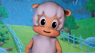 rain rain go away | nursery rhymes farmees | kids songs | 3d rhymes