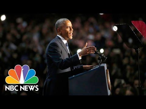 President Barack Obama s Farewell Address Full Speech NBC News