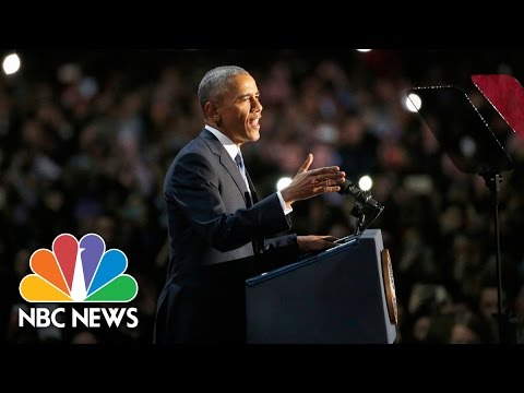 President Barack Obama's Farewell Address (Full Speech) | NBC News - View & Download Video with Any Format MP3, MP4, 3GP, WEBM
