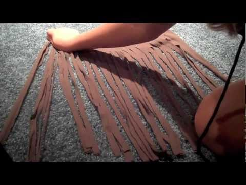 How to Make a Fringe Scarf out of a T Shirt