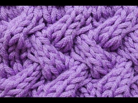 How to Knit Fake Entrelac Braid Stitch Cable Stitch Knitting Stitch