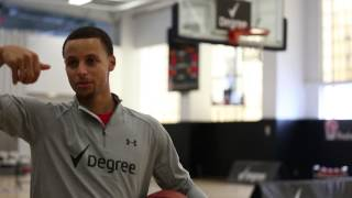 Shooting Hoops With Stephen Curry