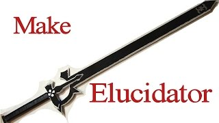 Make Elucidator from Sword Art Online