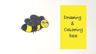 How to Draw Bee Coloring Pages | Youtube Videos Kids Learning | Coloring Pages | Baby Color Videos