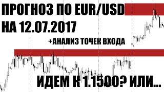 Прогноз по евро доллар  EUR/USD на 12.07.2017
