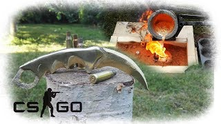 Casting Golden Karambit Knife From Bullet Shells