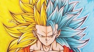 Drawing Goku | Super Saiyan 3 / Super Saiyan Blue 3 | TolgArt