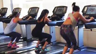 Katrina Kaif,Alia Bhatt,Parineeti Chopra HOT Workout In Gym | Dream Team 2016