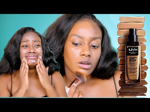 NYX CAN T STOP WONT STOP FOUNDATION REVIEW IM SHOOKTH