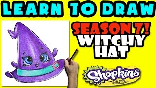 How To Draw Shopkins SEASON 7: Witchy Hat, Step By Step Season 7 Shopkins Drawing Shopkins