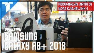 Unboxing Samsung Galaxy A8+ 2018: Dual Selfie Cam Pertama Samsung