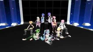 [MMD] Pomp and Circumstance (威風堂々) - Miku, KAITO, Gakupo, Rin, Len, GUMI, Luka, VY2 & IA