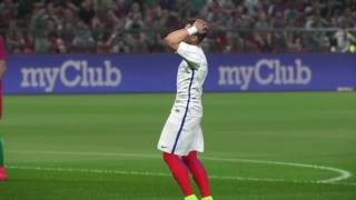 PS4 PES 2017 Gameplay Portugal vs Chile HD
