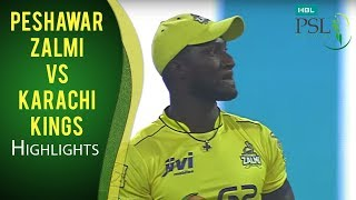 PSL 2017 Match 13: Peshawar Zalmi vs Karachi Kings Highlights