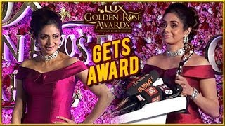 Sridevi Wins Power Pack Performance Of The Year Award At Lux Golden Rose Awards 2017