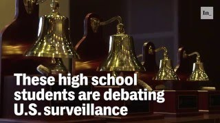 High School students debate surveillance.