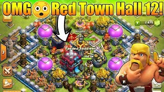 Brand New Red Town Hall 12 Gameplay? - Clash Of Clans Winter 2018 Update | New Troop + New Spell