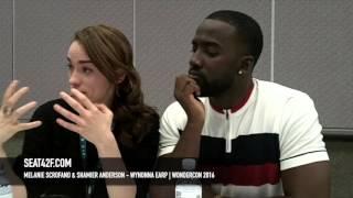 Melanie Scrofano & Shamier Anderson Wynonna Earp WonderCon 2016 Interview