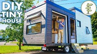 Beautiful DIY Tiny House Build with Massive Custom Patio Door