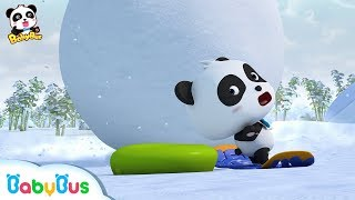 A Big Snowball! Run! Baby Panda | Baby Panda