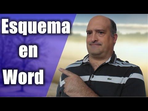 Como Hacer un Esquema en Word 2013 Curso de Word