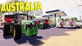 NEW MAP - Full Scale Farming & Harvesting in Australia | Farming Simulator 19 Multiplayer Gameplay