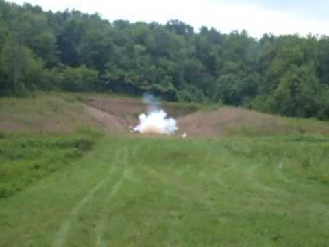 Blowing Up washer Tannerite Explosion