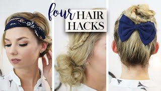 Four Easy & Fast Hairstyles - Timesaving Morning Routine Hacks
