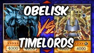 Yugioh OBELISK vs TIMELORDS (Yu-gi-oh God Card Deck Duel!)