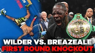 Deontay Wilder MASSIVE Knockout Punch | Wilder vs. Breazeale Highlights