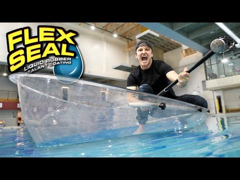 I MADE AN ENTIRE BOAT WITH FLEX TAPE CLEAR TESTING FLEX TAPE CLEAR As Seen On TV Test