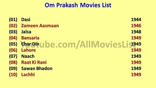 Om Prakash Movies List