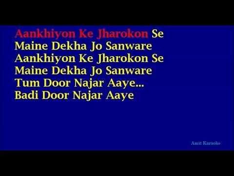 Xxx Mp4 Ankhiyon Ke Jharokhon Se Hemlata Hindi Full Karaoke With Lyrics 3gp Sex