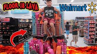 FLOOR IS LAVA CHALLENGE AT WALMART!